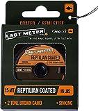 Prologic Reptilian Coated 15m - Vorfachschnur Zum Karpfenangeln, Geflochtenes Vorfachmaterial für Karpfenmontagen, Karpfenschnur, Tragkraft:15.9kg - 35lbs