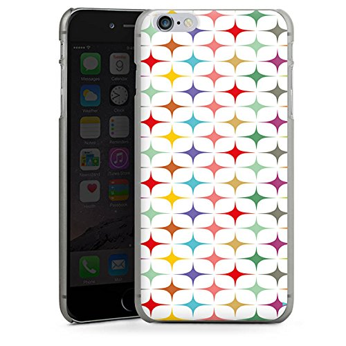 Apple iPhone 6 Housse Étui Silicone Coque Protection Rétro Vintage Rétro Collection couleurs CasDur anthracite clair