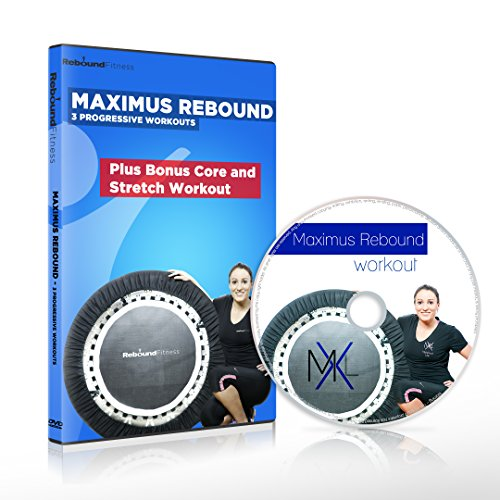 Die MaXimus Rebound Mini-Trampolin DVD-Workout-Kompilation mit 3 progressiven, motivierenden und spaßigen wird Ihnen helfen, Gewicht zu verlieren und Sie in Form zu bringen