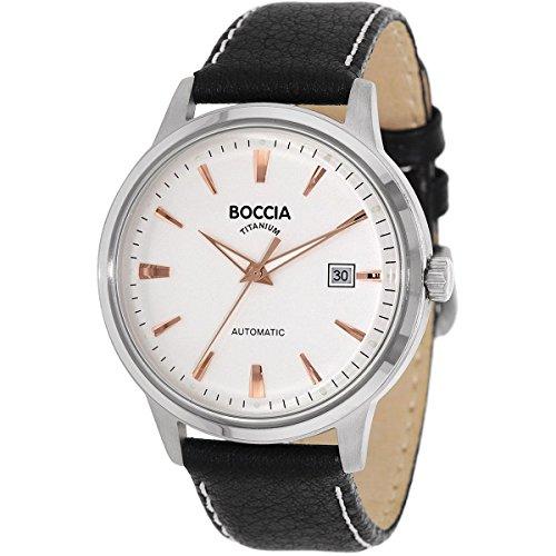 Boccia Herren-Armbanduhr Analog Automatik Leder 3586-03