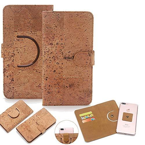 K-S-Trade Schutz Hülle für Archos, Xiaomi, LG Electronics, Gigaset, Samsung, Motorola, Nubia, Ruggear, Nokia, Cubot, Lenovo, Huawei Handyhülle Kork Handy Tasche Korkhülle Handytasche Wallet