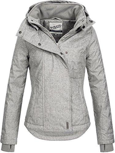 Sublevel Damen D5174X46550D-BS Sportliche Damen Übergangs Jacke Middle Grey XS