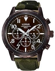 Relojes Lorus hombre-reloj cronógrafo de cuarzo de cuero deportivo RT339FX9