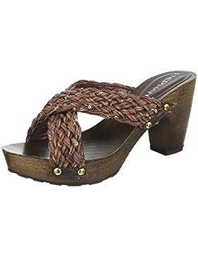 Pantoletten Damen Schuhe Jazz & Modern Pump Plateau Ital-Design Sandalen / Sandaletten