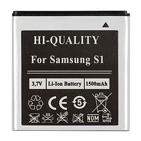 PLT24 Ersatzakku für Samsung Galaxy S i9000 GT-i9000 / Galaxy S Plus i9001 / i9003 / i9010 ersetzt EB575152VU Handy Akku Li-Ion Batterie Battery Handyakku Accu