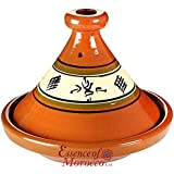 """Moroccan Tagine Cooking Pot Terracotta Authentic Rustic Hand-thrown Hand-painted 30 cm / 12"""""""