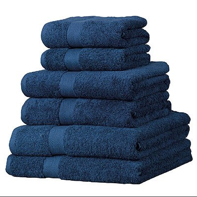 linens-limited-hotelhandtuch-set-luxor-6-tlg-agyptische-baumwolle-600-g-m-marineblau