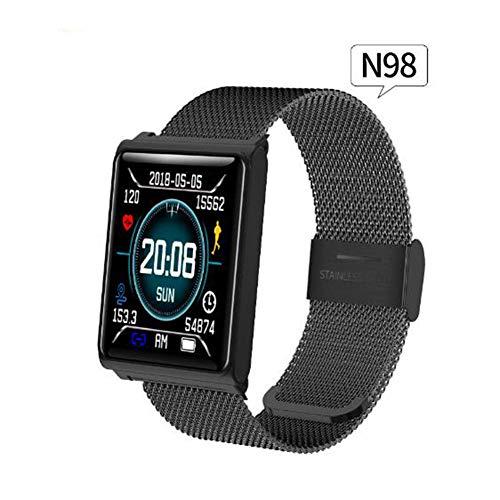 ACTIVITY TRACKER N98 Fitness Armband, Herzfrequenz/Blutdruck/Schlafüberwachung Farbbildschirm Wasserdicht IP67 Silikon/Edelstahl Material Smartwatch