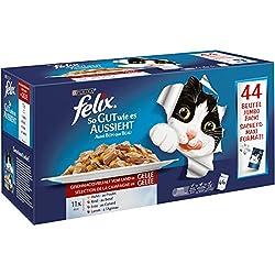 FELIX So gut wie es aussieht, Jumbopack Katzennassfutter, Geschmacksvielfalt vom Land in Gelee Jumbo-Pack (44 x 100 g)
