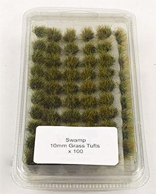 """100 Touffes Autocollantes d'Herbe Statique """"Marécage"""" de 10 mm"""