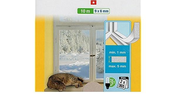Joint pour Fen/être Baisse de la consommation d/énergie Blanc Mousse Haute Densit/é Evite les courrants dair Type PU Mousse isolante pour fen/être Haute densit/é 10 m