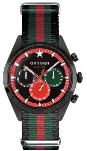 Oxygen EX-SDT-ROM-40-BLGNRE - Reloj analógico de cuarzo unisex, correa de nailon multicolor