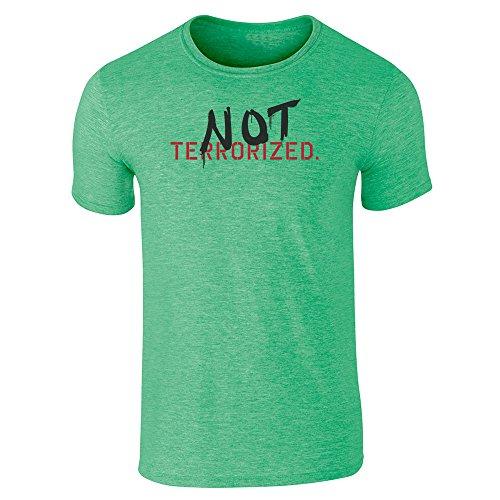 Pop Threads  Herren T-Shirt - Grün (Heather Irish Green)
