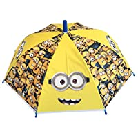 Chanos Minions Safety Runner Poe Embossed Folding Umbrella, 38 cm, Yellow