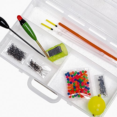 Fladen (Match) Essentials Angeln Grob Terminal Tackle Starter-Pack in einer Box – 20 x 13 x 4 cm [19–3002] (Small Fishing Tackle Box)