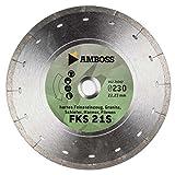 Amboss FFS 21 - Diamant-Trennscheibe Ø 180 mm x 25,4 mm - Hartes Feinsteinzeug (bis 0,8 cm) / Granit / Schiefer / Marmor / Fliesen | Segmenthöhe: 5 mm