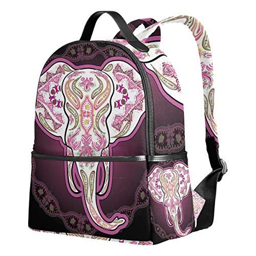 Ahomy - Mochilas Escolares con diseño de Elefantes y Calavera con Mandala...