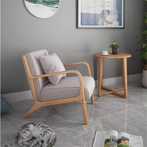Massivholz Lounge Chair mit Kissen und Rückenlehne Armlehne, Stoff gepolstert Akzent Sessel, weich, für Wohnzimmer Schlafzimmer, 30,3 * 26 * 28,7