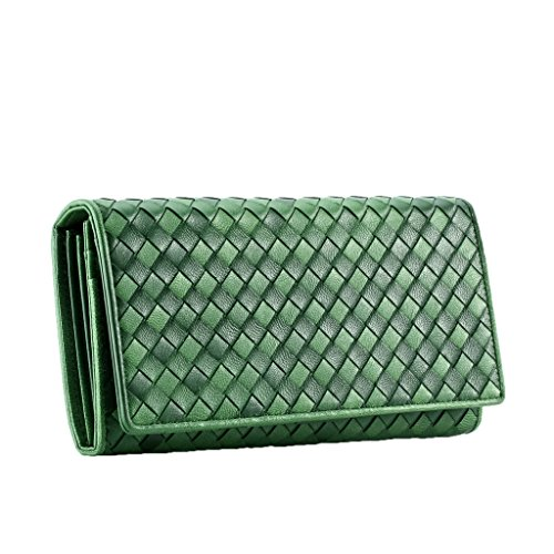 Contacts Lang Damen Geldbörse Leder Geldtasche Portemonnaie mit Reißverschluss-Tasche - Brieftasche Snap-kupplung Geldbörse