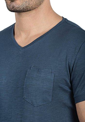 BLEND Fred Herren T-Shirt V-Ausschnitt Brusttasche Ensign Blue (70260)