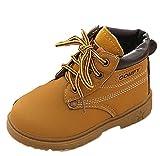 Winter Baby Jungen Mädchen Martin Stiefel Covermason Schneestiefel Warme Schuhe (21(12-18 Monat), Gelb Verdicken)