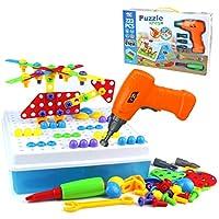 Symiu Bloques Construccion Rompecabezas Bricolaje 223 Piezas Puzzle  Infantiles Tablero Caja Herramientas Juguete para Niños 3 c6da15c8dabb8
