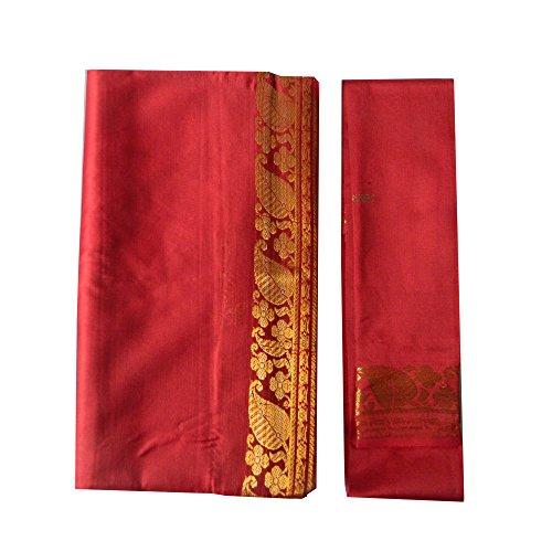 Sari bordeaux rot Goldbrokat traditionelle Bekleidung dunkelrot Indien Blusenstoff Wickelanleitung Bindikärtchen