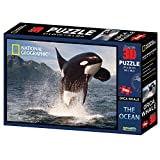 National Geographic Super 3D-Puzzle der Ozean-Orcawal (500 Teile, Mehrfarbig)