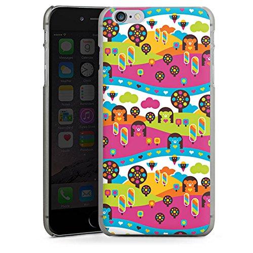 Apple iPhone X Silikon Hülle Case Schutzhülle Wolken Herzen Süßigkeiten Hard Case anthrazit-klar