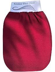 KISSMEE First Class Peelinghandschuh, Farbe Bordeaux, Größe Normal
