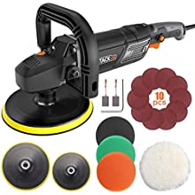 Polisher, TACKLIFE Buffer Polisher 180MM 1500W, with 6 Variable Speeds, Digital Screen, Lock Switch, Detachable Handle, Ideal for Car Sanding, Polishing, Waxing, Sealing Glaze - PPGJ01A