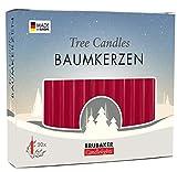 Brubaker - Confezione da 20 candele per albero di Natale, colore rosso
