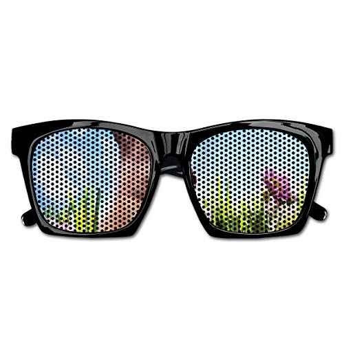 EELKKO Mesh Sunglasses Sports Polarized, Blossoming Flowers with Colorful Painted Eggs and Fluffy Bunny Nature Photography,Fun Props Party Favors Gift Unisex