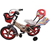 Global Spider 14T (Red) Fully Adjustable With Back Seat And Back Support Kids Bicycle For Boys And Girls Age 2-5 Years