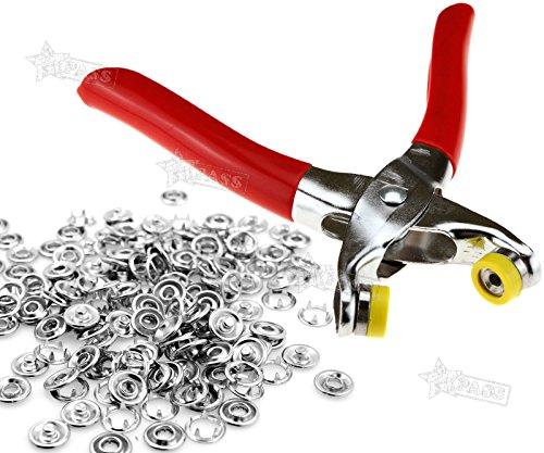 Generic. iers 10-Verschluss mit 5-Snap CR, 9mm, 9Stück. 5mm-Ohrstecker, Ohrstecker mit Zange 100N Nickel Nickel-Reparatur-Set. -