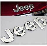 Chrome JEEP Trunk Lid Emblem Hood Badge ...
