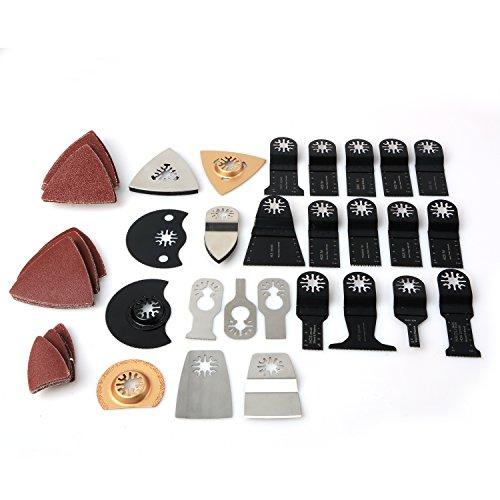 Doolland Multi Tool Zubehör Mix Holz Sägeblatt Multi Tool für Bosch Fein Dremel Makita Maschinen (Klingen Rockwell Oszillierende Werkzeug)