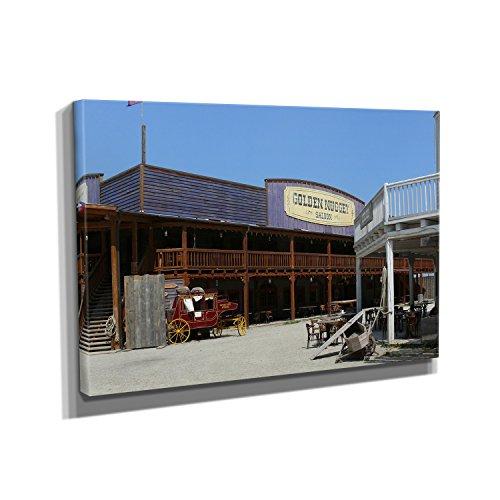 Saloon - Kunstdruck auf Leinwand (45x30 cm) zum Verschönern Ihrer Wohnung. Verschiedene Formate auf Echtholzrahmen. Höchste Qualität. ()