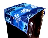 #7: Kanushi Industries Floral Design Fridge Top Cover with 6 Utility Pockets (Blue Color)