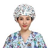 TENDYCOCO Bonnet de Gommage Chirurgical Poisson imprimé infirmière Bouffant Docteur Bonnet Casquette tête de Mort