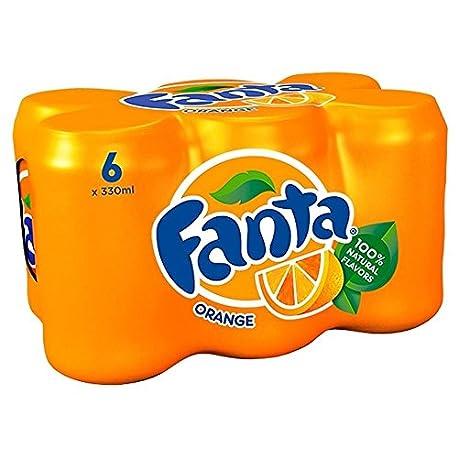Fanta Naranja 6X330ml Paquete de 2