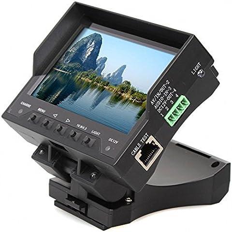OneBird 4,3 pulgadas TFT LCD de Seguridad de Handy Audio Video Cámara del Cctv Tester cable Monitor Test