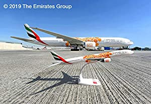 """Herpa 612357 Emirates Boeing 777-300ER - Expo 2020"""" Opportunity Livery Wings/avión para coleccionar, Multicolor"""