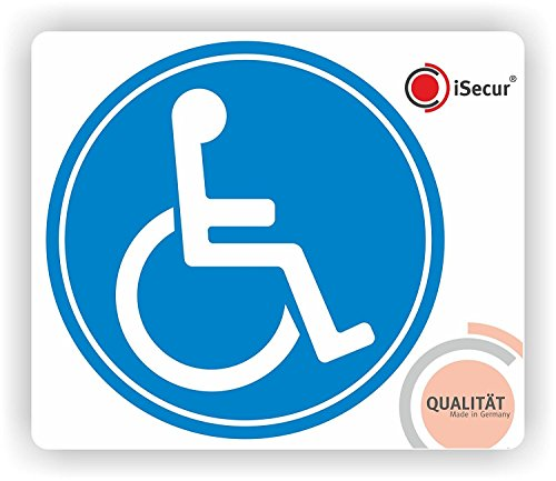 easydruck24 2er Set Rollstuhl-Aufkleber I kfz_076 I Ø 10 cm I Behinderten-Aufkleber für Auto, Behinderten-Transport, Rollstuhl-Fahrer I Wetterfest außen-klebend