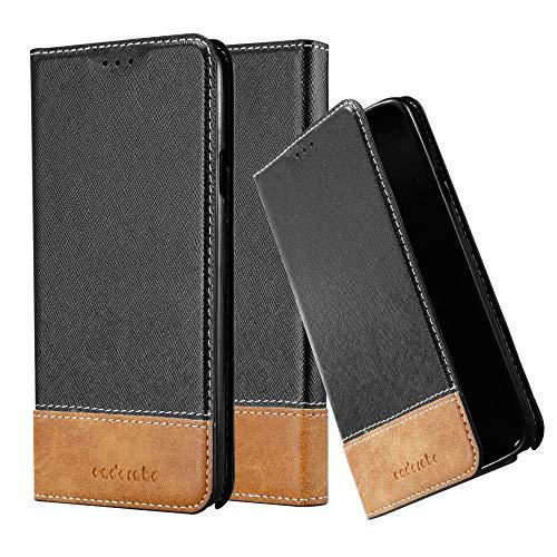 Cadorabo Hülle für Samsung Galaxy Note 3 NEO - Hülle in SCHWARZ BRAUN - Handyhülle mit Standfunktion & Kartenfach aus Einer Kunstlederkombi - Case Cover Schutzhülle Etui Tasche Book