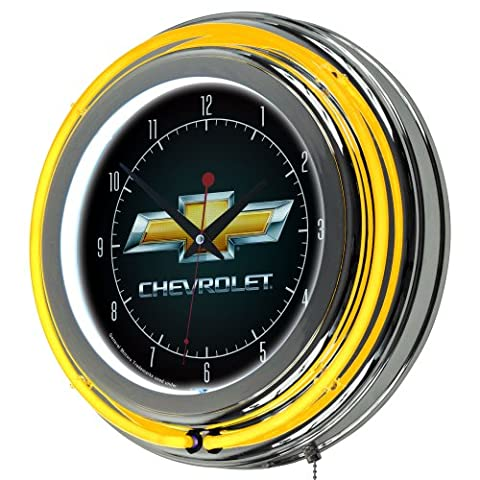 Trademark GM1400CH Chevy Chevy Double Ring Neon Wall Clock With Officially Licensed Chevrolet Logo
