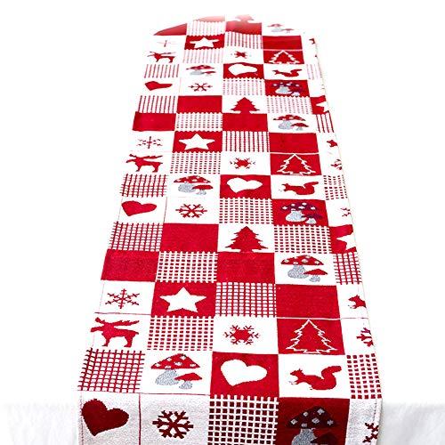 Chytaii Bandera Mesa Triángulo Navidad Rojo Mantel