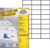 AVERY Zweckform 3474 Universal-Etiketten (A4, Papier matt, 2,400 Etiketten, 70 x 37 mm, 100 Blatt) weiß Vergleich