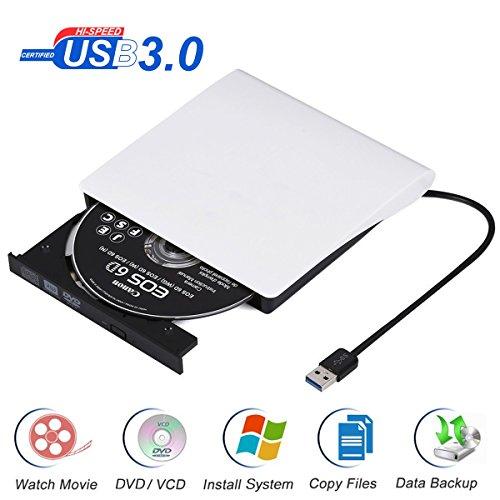 External DVD Drive USB3 0,Portable Slim DVD CD Burner Writer