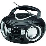 AEG SR 4374Radio stéréo avec lecteur CD avec port USB, AUX-IN, écran LCD Noir
